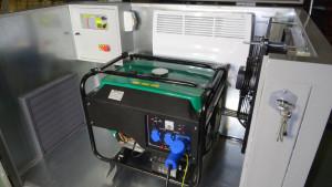 контейнер для электрогенератора изнутри крупно