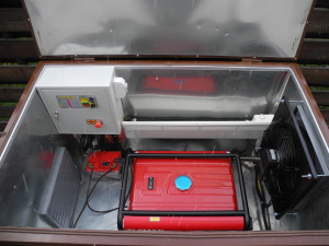 контейнер для электрогенератора коричневый изнутри