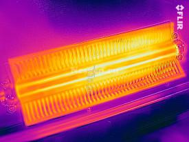 Термограмма пожаробезопасного подогрева кожуха