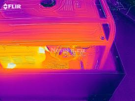Термограмма генератора в контейнере