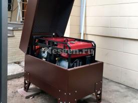 Шумозащитный всепогодный мини контейнер для генератора до 15кВт