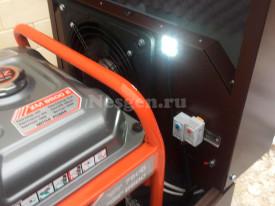 Светодиодное освещение кожуха с подогревом для генератора